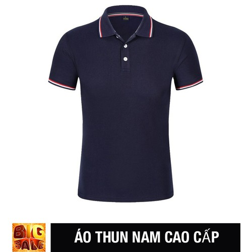 Áo Thun Nam ngắn tay màu xanh đen Cao cấp