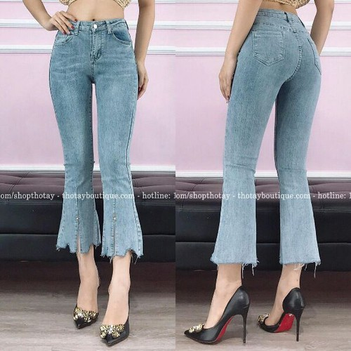 Quần jean nữ ống loe cực cool
