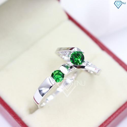 Nhẫn đôi bạc nhẫn cặp bạc đính đá xanh lá đẹp ND0007 - Trang Sức TNJ - 7250001 , 17086970 , 15_17086970 , 520000 , Nhan-doi-bac-nhan-cap-bac-dinh-da-xanh-la-dep-ND0007-Trang-Suc-TNJ-15_17086970 , sendo.vn , Nhẫn đôi bạc nhẫn cặp bạc đính đá xanh lá đẹp ND0007 - Trang Sức TNJ