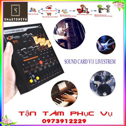 BỘ SOUND CARD V11 live stream HIỆU ỨNG ÂM THANH ĐA NĂNG