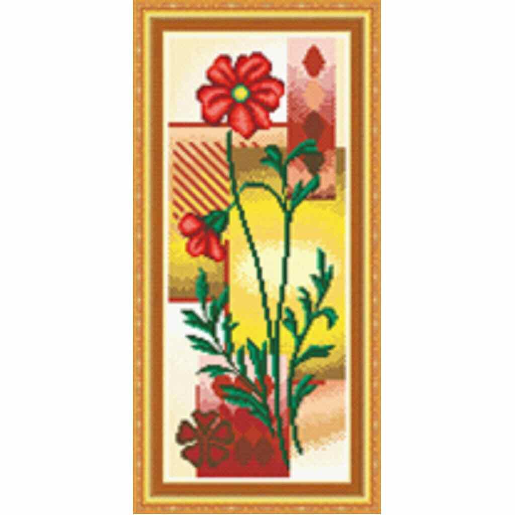 Tranh thêu chữ thập Hoa quyến rũ