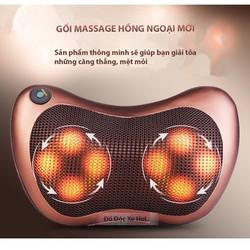 Gối massage hồng ngoại Hàn Quốc 8028 - 8 bi