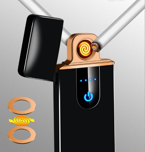 Bật-lửa điện tử cảm biến chạm cao cấp sạc điện usb chống gió thổi khi  2