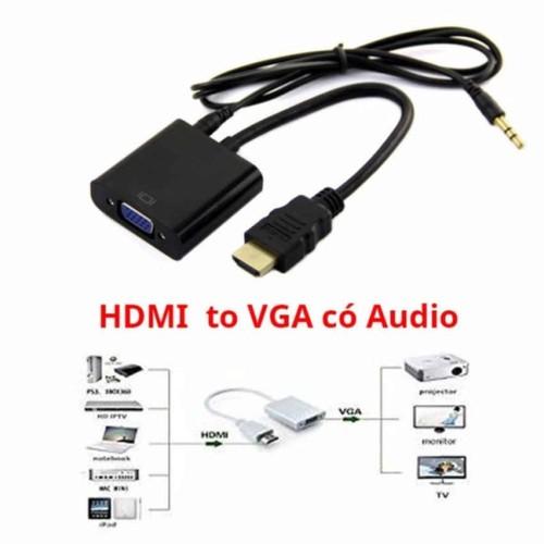 Cáp chuyển đổi HDMI sang VGA Audio có âm thanh 1