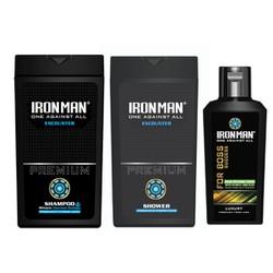 Combo Dầu gội sữa tắm nhiệt Ironman Encounter 380g+ Dung dịch vệ sinh nam Tinh chất thảo dược Ironman for Boss 120g