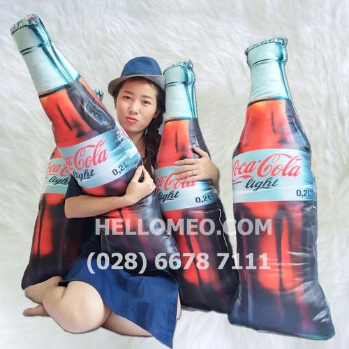 Gối Ôm 3D Hình Chai Coca-Cola Cho Bé - 100cm