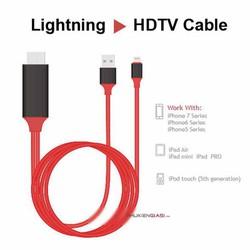 cáp HDMI full HD từ iphone7-8-9-x-xs lightning lên tivi dây dài 2m