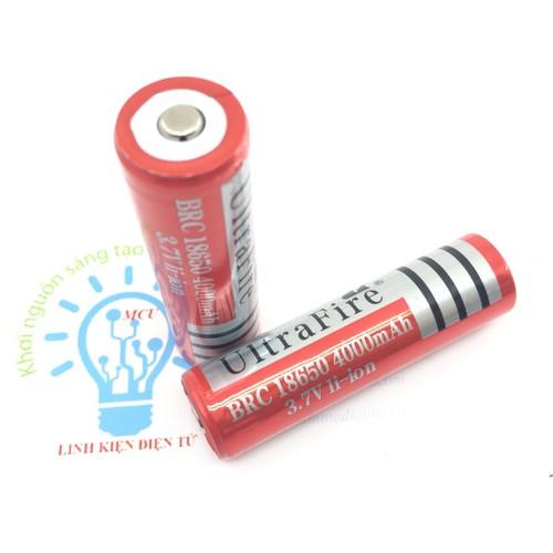 Pin sạc 18650 UltraFire 4000mAH 3.7V -1 Viên