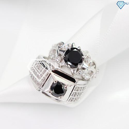 Nhẫn đôi bạc nhẫn cặp bạc đính đá đen tinh tế ND0192 - Trang Sức TNJ - 7240106 , 17081335 , 15_17081335 , 700000 , Nhan-doi-bac-nhan-cap-bac-dinh-da-den-tinh-te-ND0192-Trang-Suc-TNJ-15_17081335 , sendo.vn , Nhẫn đôi bạc nhẫn cặp bạc đính đá đen tinh tế ND0192 - Trang Sức TNJ