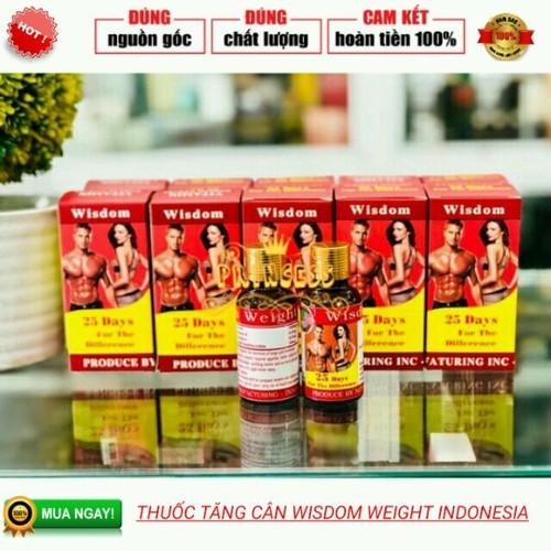 COMBO 2 VITAMIN TĂNG CÂN WISDOM WEIGHT - INDONESIA - có tem GMP hóa đơn đầy đủ