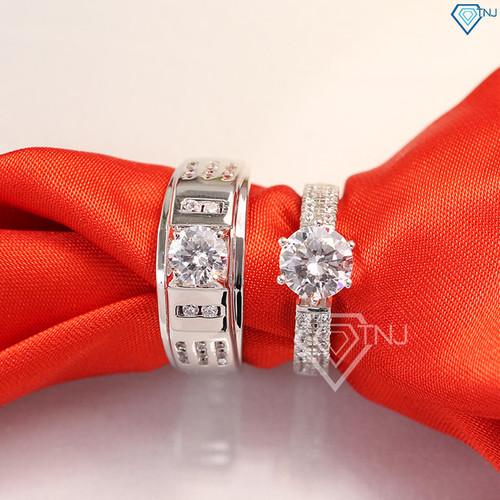 Nhẫn đôi bạc nhẫn cặp bạc đính đá đẹp tinh tế ND0282 - Trang Sức TNJ - 4631355 , 17088226 , 15_17088226 , 650000 , Nhan-doi-bac-nhan-cap-bac-dinh-da-dep-tinh-te-ND0282-Trang-Suc-TNJ-15_17088226 , sendo.vn , Nhẫn đôi bạc nhẫn cặp bạc đính đá đẹp tinh tế ND0282 - Trang Sức TNJ