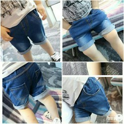 quần đùi jean cho Bé trai Bé gái