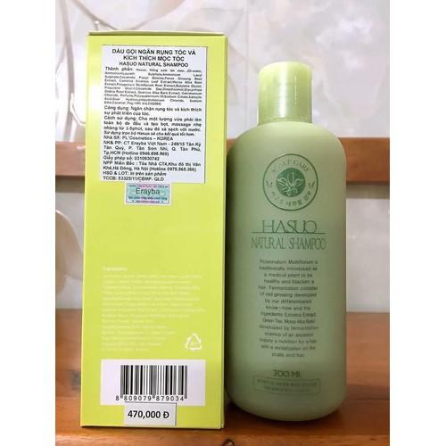 Hasuo Natural Shampoo - Dầu gội ngăn rụng tóc và kích thích mọc tóc 300ML