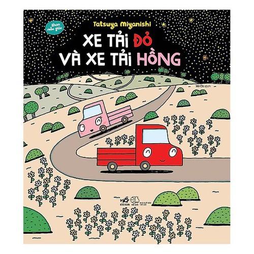 Truyện Ehon - Xe tải đỏ và xe tải hồng