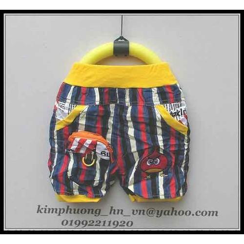 quần cộc kaki nhăn bé trai 2 đến 4 tuoi