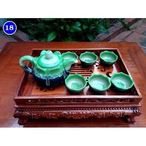 Khay trà đục rồng KT 48*38*11 cm -shop đồ gỗ Nhân Ái