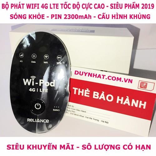 Thiết bị phát wifi 4G LTE siêu thần tốc-WD670 cho 31 máy dùng wifi kết nối cho lớp học