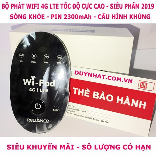 Tổng KHO BỘ PHÁT WIFI- Củ phát wifi 4G LTE Wi-Pod WD670 siêu đẳng cấp-HÀNG MỚI VỀ
