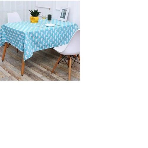 Khăn trải bàn canvas gấu xanh khổ 90cm x 90cm