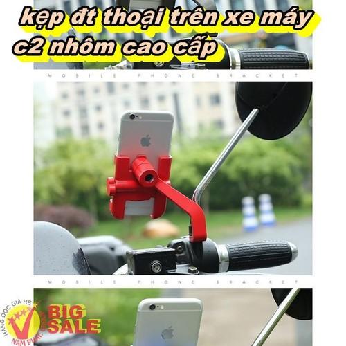 Kẹp đt thoại trên xe máy C2 nhôm cao cấp - 7266171 , 17095793 , 15_17095793 , 199000 , Kep-dt-thoai-tren-xe-may-C2-nhom-cao-cap-15_17095793 , sendo.vn , Kẹp đt thoại trên xe máy C2 nhôm cao cấp