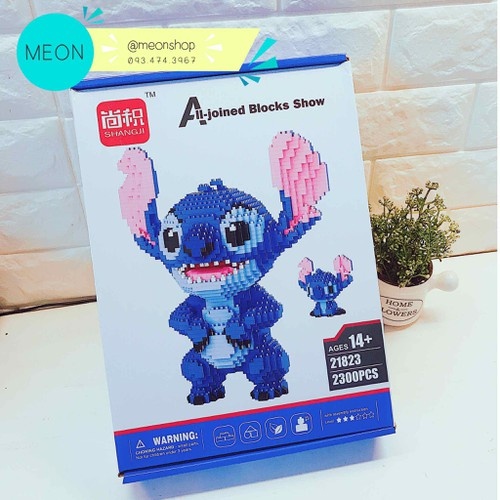 Mini Block - Đồ chơi xếp hình - Stitch - 2300 pcs - Size XL