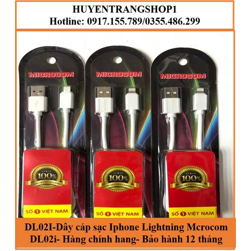 DL02i- Dây Cáp Sạc Iphone Lightning Microcom DL 02-I Hàng Chính Hãng - Bảo Hành 12 Tháng - 7283662 , 17103926 , 15_17103926 , 45000 , DL02i-Day-Cap-Sac-Iphone-Lightning-Microcom-DL-02-I-Hang-Chinh-Hang-Bao-Hanh-12-Thang-15_17103926 , sendo.vn , DL02i- Dây Cáp Sạc Iphone Lightning Microcom DL 02-I Hàng Chính Hãng - Bảo Hành 12 Tháng
