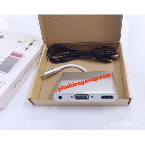 CÁP CHUYỂN Lightining LÊN TIVI QUA CỔNG HDMI - VGA