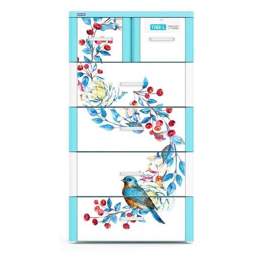 Tủ Nhựa Duy Tân Tabi- L 5 Tầng- 6 Ngăn Màu Dương Chim Quyên