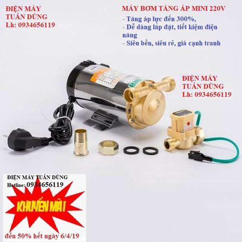 Máy bơm tăng áp - Bơm tăng áp mini 220V siêu bền, Máy bơm nước mini tăng áp lực nước cho bình nóng lạnh, điều hoà, máy giặt, bảo hành uy tín - 7265170 , 17095403 , 15_17095403 , 750000 , May-bom-tang-ap-Bom-tang-ap-mini-220V-sieu-ben-May-bom-nuoc-mini-tang-ap-luc-nuoc-cho-binh-nong-lanh-dieu-hoa-may-giat-bao-hanh-uy-tin-15_17095403 , sendo.vn , Máy bơm tăng áp - Bơm tăng áp mini 220V siêu b