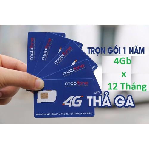 SIM 4G MOBI TRỌN GÓI 1 NĂM KHÔNG NẠP TIỀN 4GB MỖI THÁNG