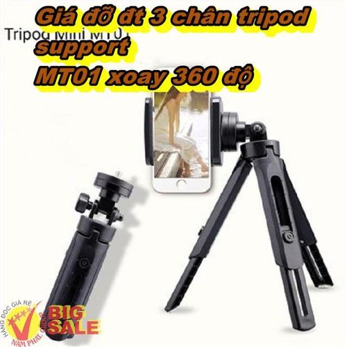 Giá đỡ đt 3 chân tripod support MT01 xoay 360 độ - 7266200 , 17095839 , 15_17095839 , 98000 , Gia-do-dt-3-chan-tripod-support-MT01-xoay-360-do-15_17095839 , sendo.vn , Giá đỡ đt 3 chân tripod support MT01 xoay 360 độ
