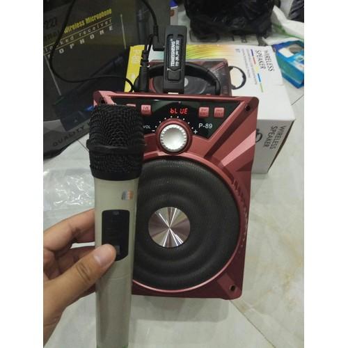 Loa bluetooth tặng 1 Mic không dây chính hãng Karaoke cực hay