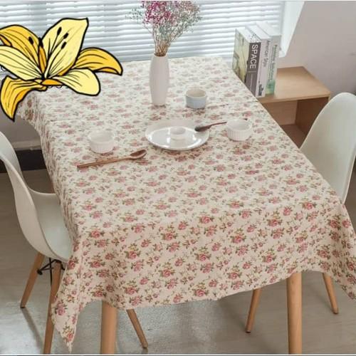 Khăn trải bàn canvas hoa hồng đôi khổ 90cm x 90cm
