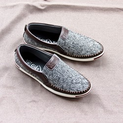 Giày lười, giày mọi vải bố nam Giày Nam S1 HDV01 Gía Tốt Nhất