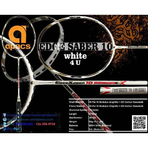 vợt cầu lông Apacs Edge Saber 10 - có dây lưới - 4634230 , 17106811 , 15_17106811 , 730000 , vot-cau-long-Apacs-Edge-Saber-10-co-day-luoi-15_17106811 , sendo.vn , vợt cầu lông Apacs Edge Saber 10 - có dây lưới