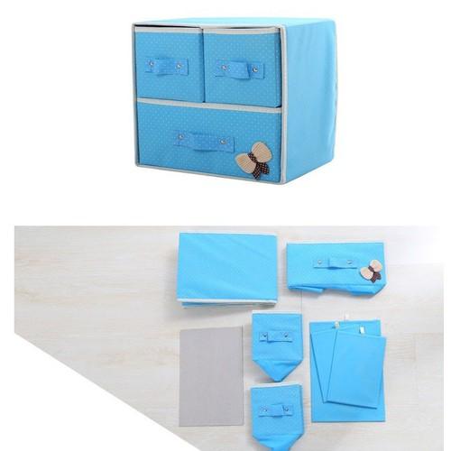 Tủ vải đựng đồ 3 ngăn giúp không gian nhà gọn gàng và ngăn nắp - 7269524 , 17097288 , 15_17097288 , 129000 , Tu-vai-dung-do-3-ngan-giup-khong-gian-nha-gon-gang-va-ngan-nap-15_17097288 , sendo.vn , Tủ vải đựng đồ 3 ngăn giúp không gian nhà gọn gàng và ngăn nắp