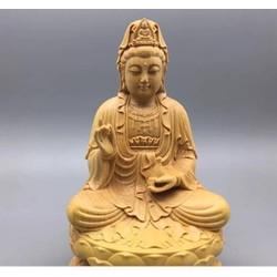 Nội Thất- Tượng Phật Bà Gỗ Hoàng Dương Shop Đồ Gỗ Nhân Ái