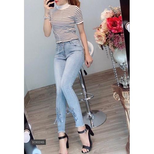 quần jean nữ đan dây thời trang - 7272595 , 17098624 , 15_17098624 , 260000 , quan-jean-nu-dan-day-thoi-trang-15_17098624 , sendo.vn , quần jean nữ đan dây thời trang