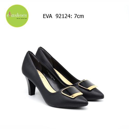 Giày cao gót trụ Evashoes  - Màu đen - EVA92124