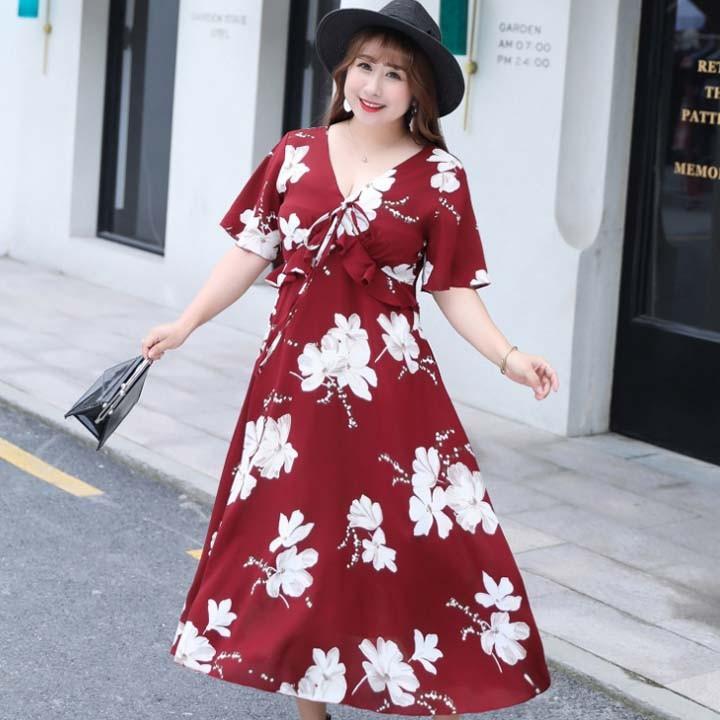 Đầm Bigsize cao cấp dành cho người mập từ 55-90Kg - V57 2