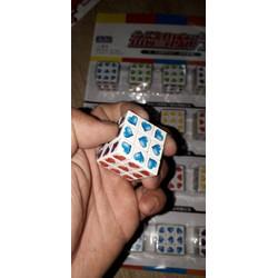 Set 2 cái Rubik mini 3x3 bằng nhựa hình trái tim rất đẹp