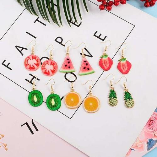 Khuyên Tai Hình hoa quả cho các bạn nữ đi chơi hè