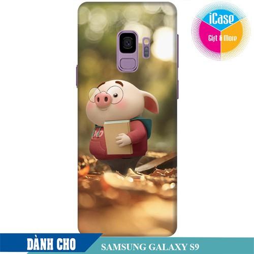 Ốp lưng nhựa dẻo dành cho Samsung Galaxy S9 in hình Heo Con Mọt Sách