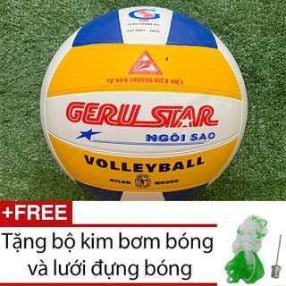 Bóng chuyền số 5 Geru Star tặng kim bơm và lưới đựng bóng - BongChuyenGeruStarSo5G60 thumbnail