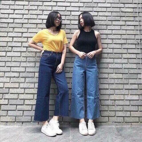 Quần jean nữ ống rộng cao cấp - 4541422 , 16439545 , 15_16439545 , 250000 , Quan-jean-nu-ong-rong-cao-cap-15_16439545 , sendo.vn , Quần jean nữ ống rộng cao cấp
