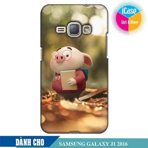 Ốp lưng nhựa dẻo dành cho Samsung Galaxy J1 2016 in hình Heo Con Mọt Sách