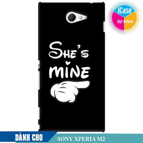 Ốp lưng nhựa dẻo dành cho Sony M2 in hình She is Mine