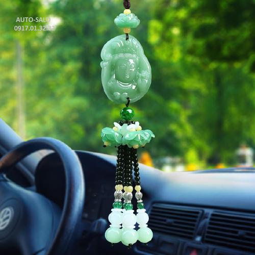 Khánh treo đá xanh mặt phật trang trí ô tô