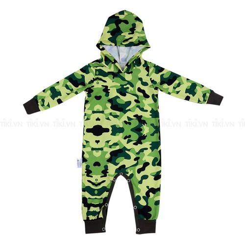 Bodysuit dài liền nón Lính - mihababy - FULLBDS_ARMY
