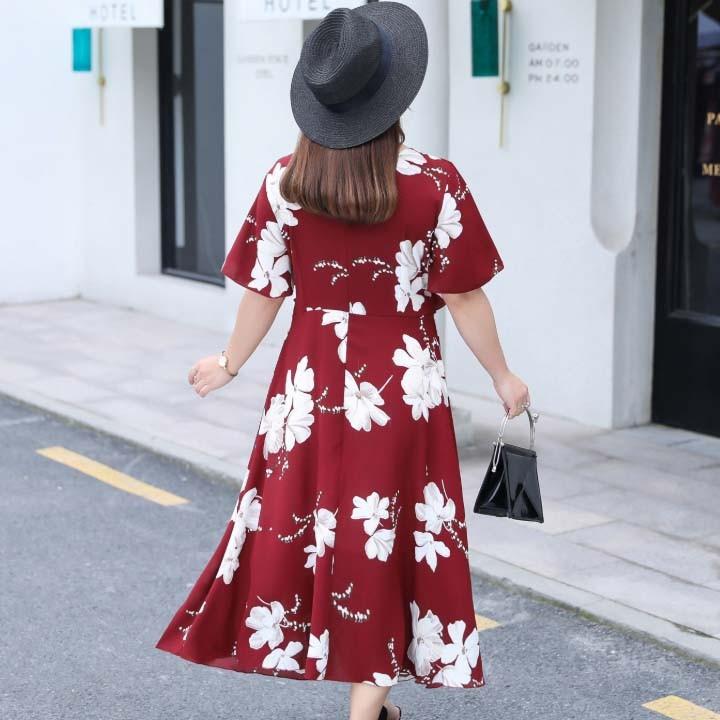 Đầm Bigsize cao cấp dành cho người mập từ 55-90Kg - V57 3